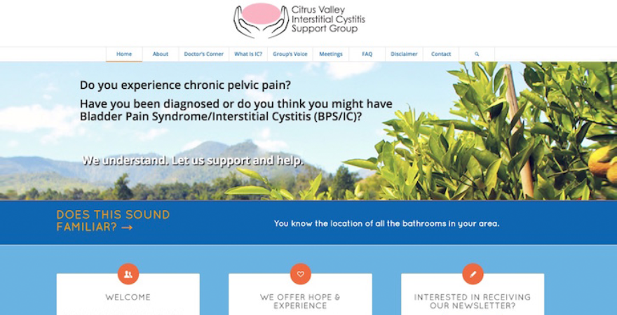 Citrus Valley IC support group website