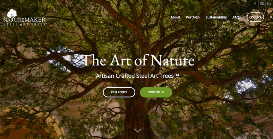 NatureMaker Steel Art Trees Website