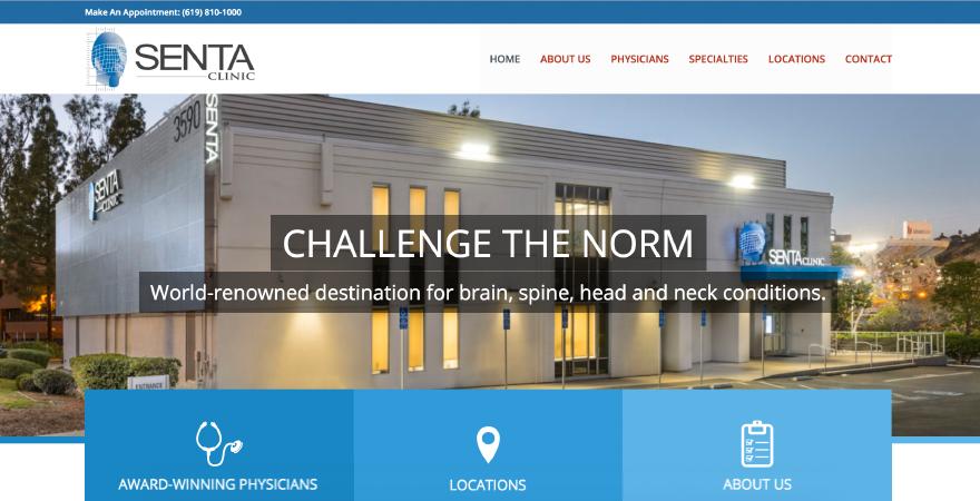 SENTA clinic website