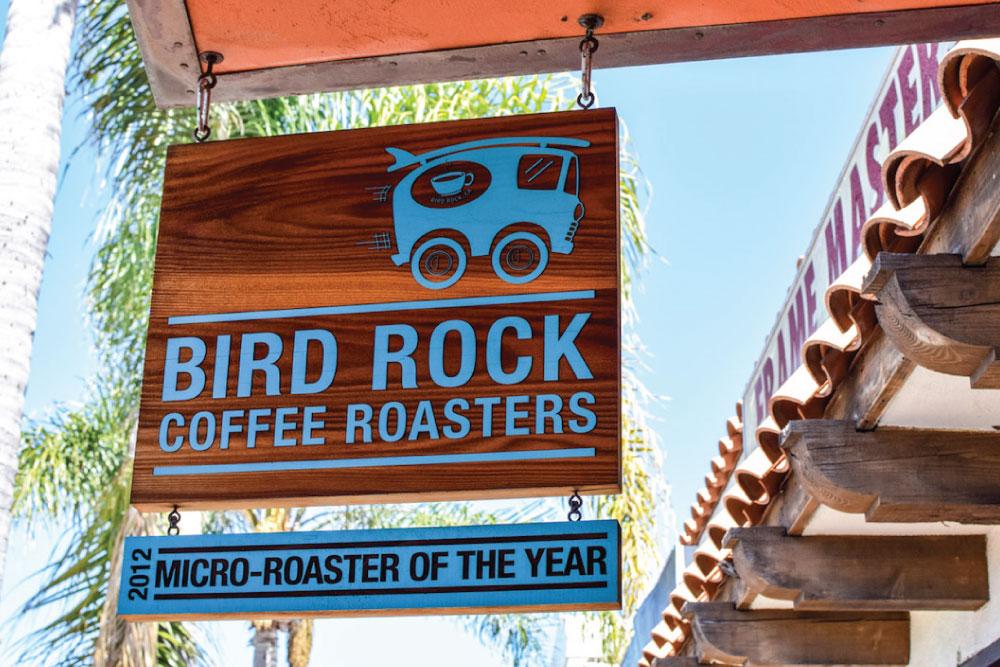 bird rock coffee roasters outdoor sign