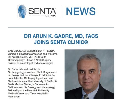 SENTA clinic doctor joining announcement