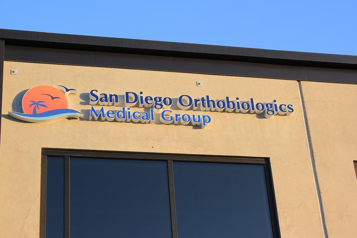 San Diego Orthobiologics Medical Group outdoor sign
