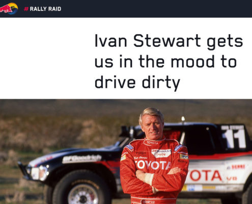 Ivan Stewart gets us in the mood to drive dirty