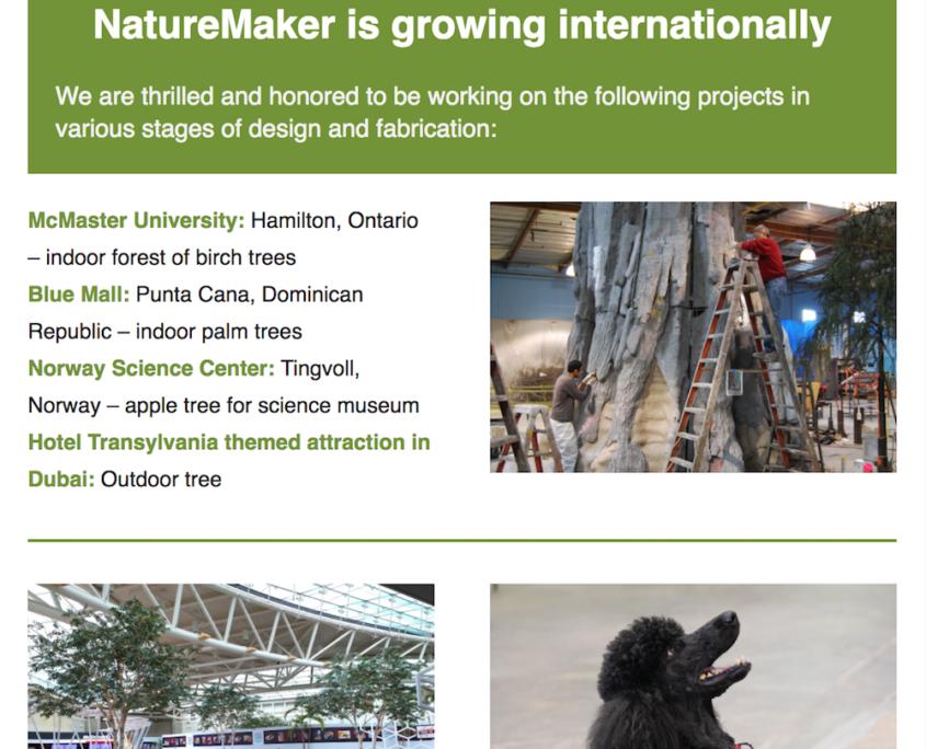 NatureMaker newsletter
