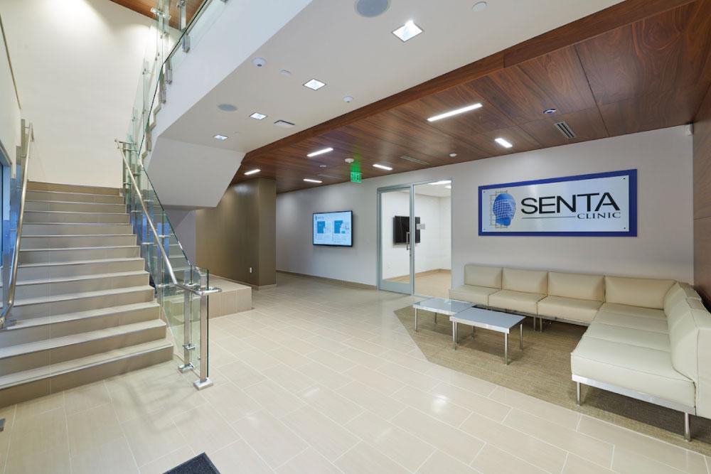 Branding work inside of Senta Clinic