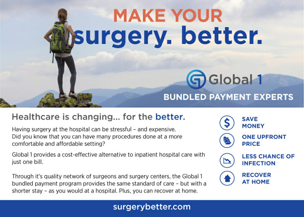 Make your surgery better Global 1 information ad