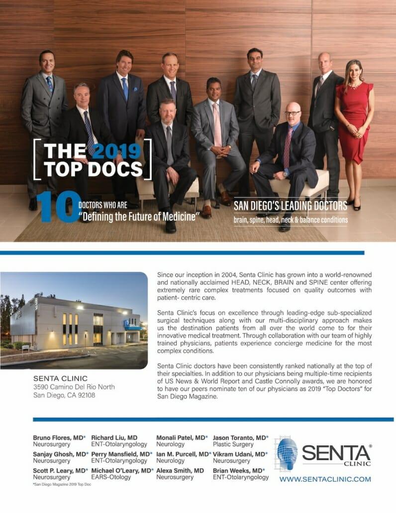 SENTA Clinic Top Doc Ad 2019