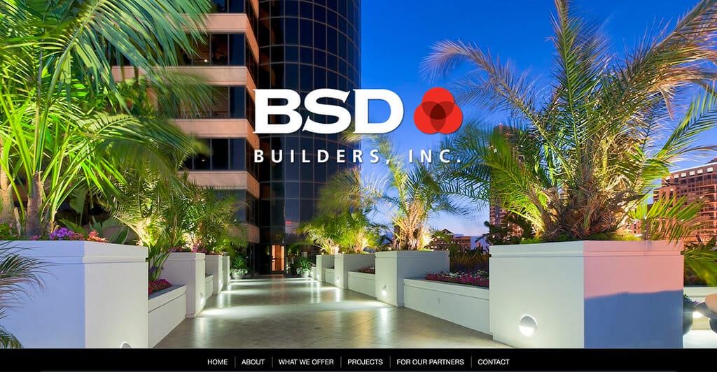 BSD Builders website screenshot